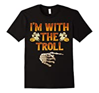 I'm With The Troll Costume Funny Halloween Couple Shirts Black