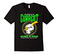 Funny Electrician Gift Electrical Engineer Lineman T-shirt Black