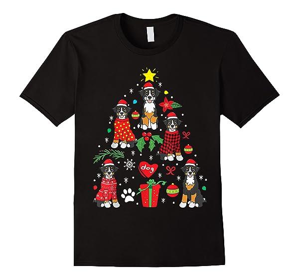 Bernedoodle Christmas Ornat Tree Funny Dog Mom Dad Gift T-shirt