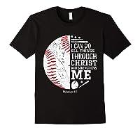 Baseball Gifts Bible Verse Sayings Philippians 413 Shirts Black