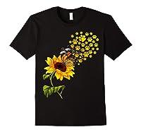 Dog Paw Sunflower You Are My Sunshine T-shirt Black