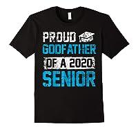 Proud Godfather Of 2020 Graduate Graduation Blue Themed Shirts Black