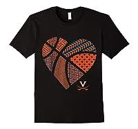 Virginia Cavaliers Patterned Heart Apparel Shirts Black