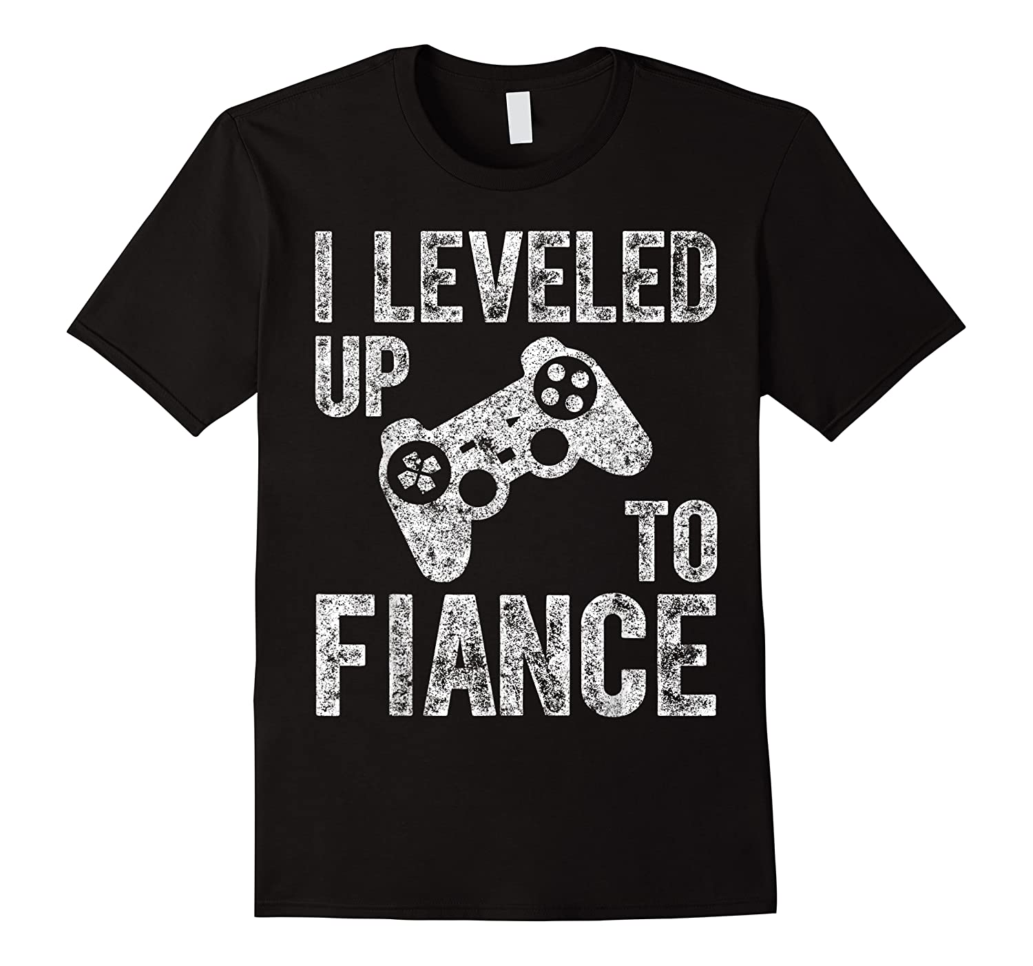 Funny Video Gamer Gift I Leveled Up To Fiance Cute Shirts