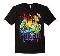 Splatoon Pride Stay Fresh Rainbow Paint Splat Shirts Black