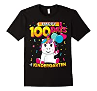 Unicorn Happy 100 Days School Kindergarten Girls Gift Shirts Black
