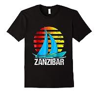 Zanzibar Sailing T-shirt Sunset Sailboat Vacation Gift Black