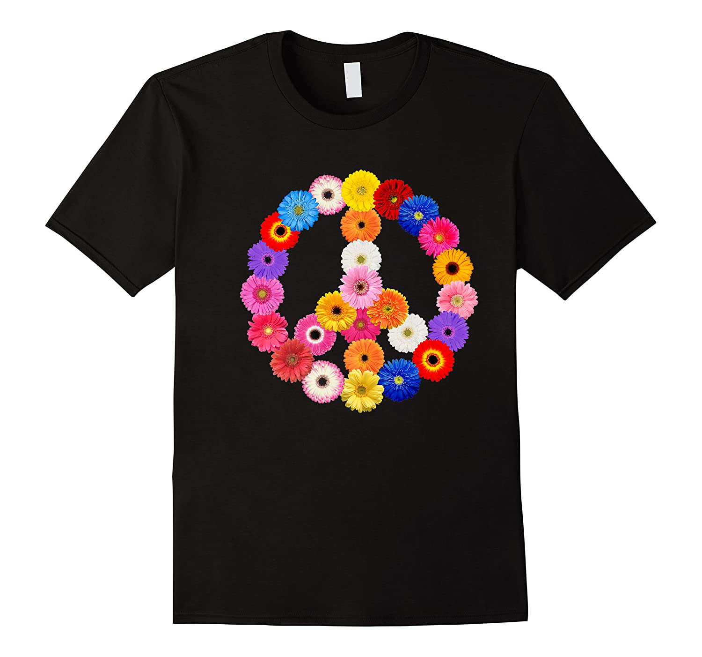 Gerber Daisies Gerbera Peace Sign 70's Flowers Love Kindness Shirts