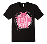 Team Girl Gender Reveal Party Pregancy T-shirt Black