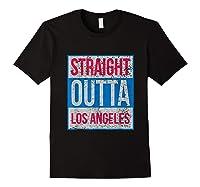 Straight Outta Los Angeles Basketball Shirts Black