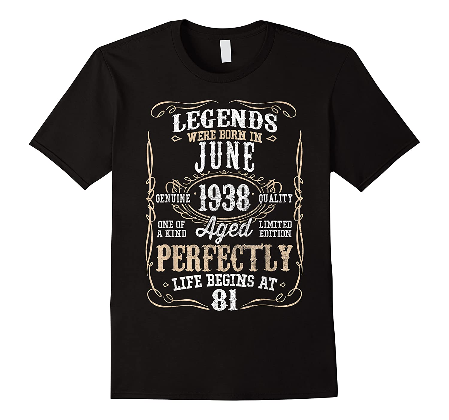 Legends Born June 1938 81st Awesome Birthday Gift T-shirt
