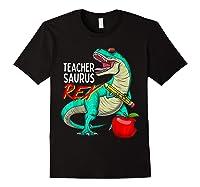 Teasaurus Rex - Funny Dinosaur Tea Appreciation Gift T-shirt Black