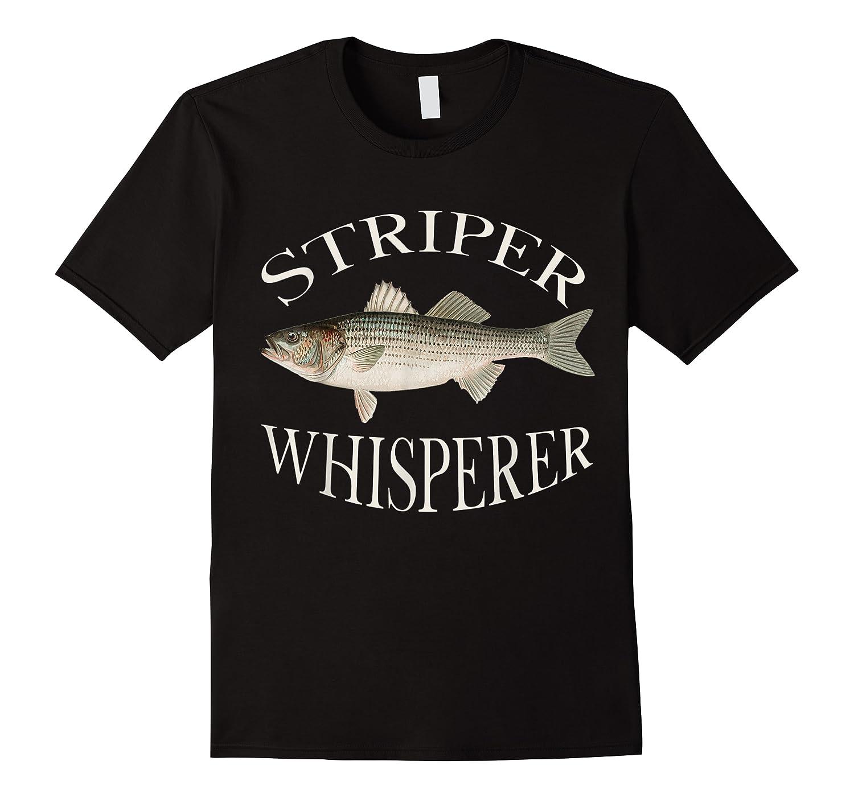 Striper Whisperer Striped Bass Fish Illustration Fishing T-shirt