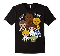 S Cute Kawaii Style Heroes Graphic C1 Shirts Black