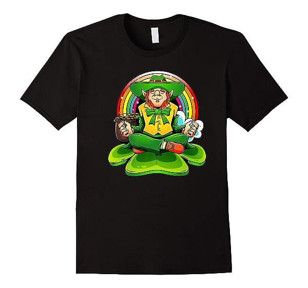 St Patricks Day Irish Yoga Leprechaun Meditating Yogi Patty Premium T-shirt