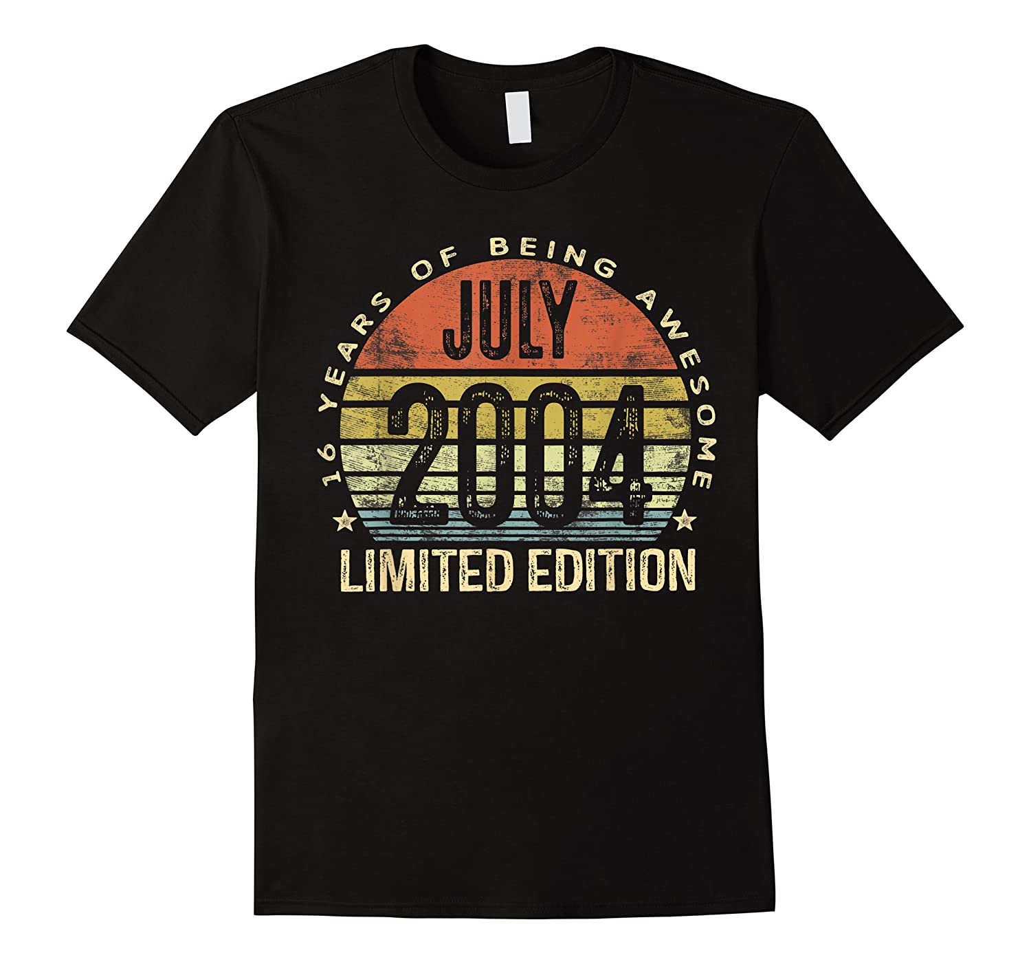 July 2004 Limited Edition 16th Birthday 16 Year Old Gift Shirts