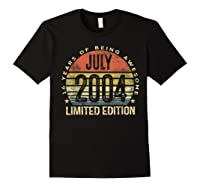 July 2004 Limited Edition 16th Birthday 16 Year Old Gift Shirts Black