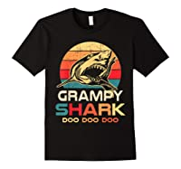 Grampy Shark Doo Doo Doo Fathers Day Gift Shirts Black