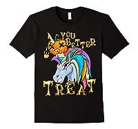 Unicorn Pumpkin Shirts Black