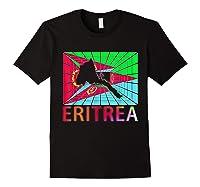 Eritrea Map Eritrean Shirts Black