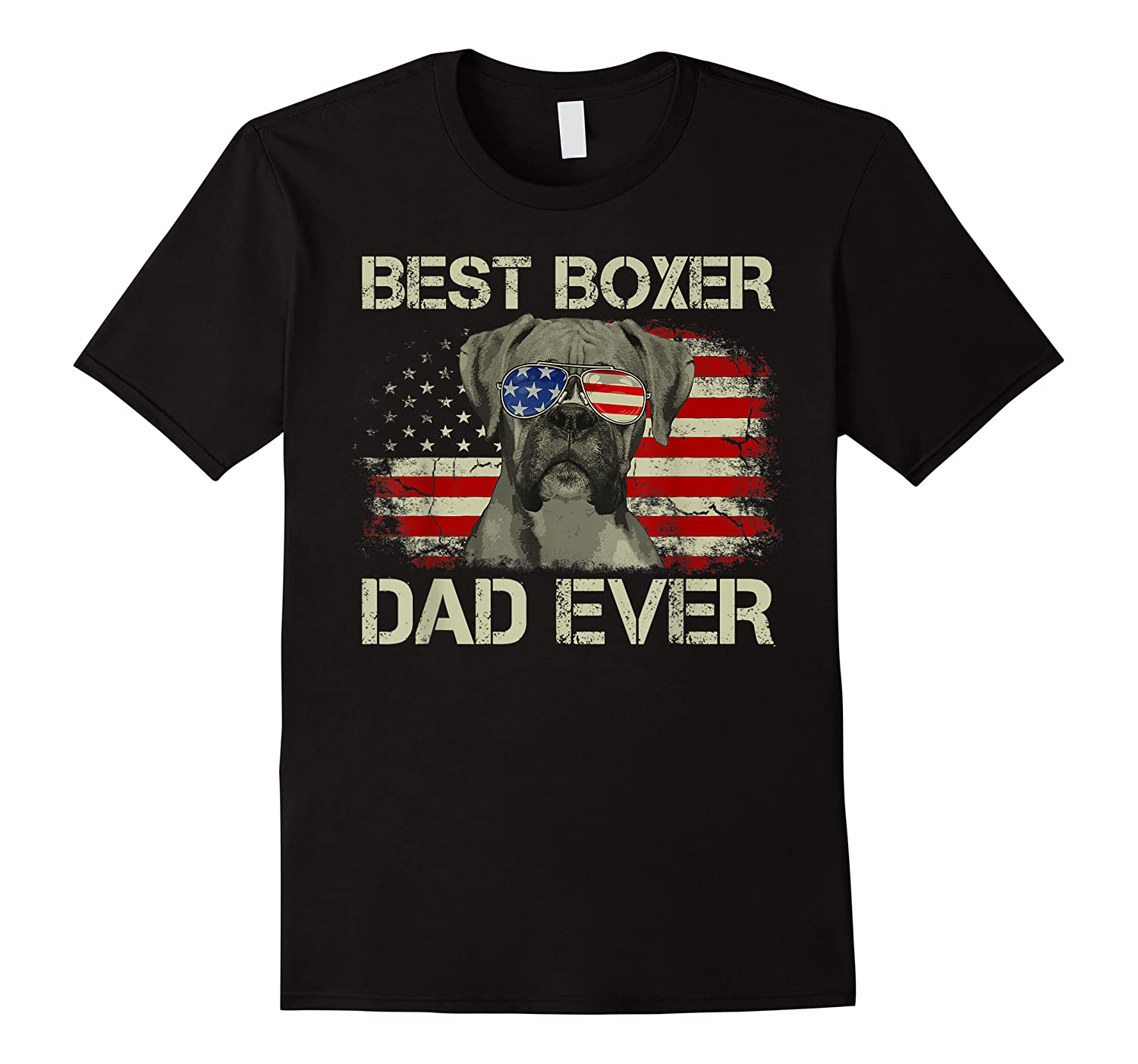 Best Boxer Dad Ever Dog Lover American Flag Gift Shirts