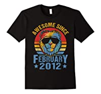 Lion 2012 Awesome February 8th Birthday Gifts King T-shirt Black