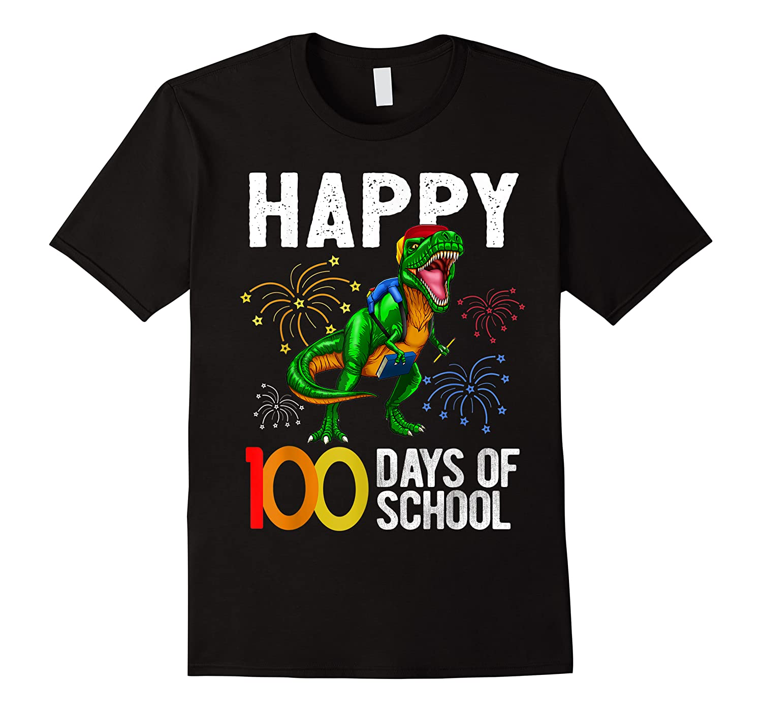100 Days Of School Dinosaur T Rex Pencil Backpack Gift Shirts