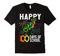 100 Days Of School Dinosaur T Rex Pencil Backpack Gift Shirts Black