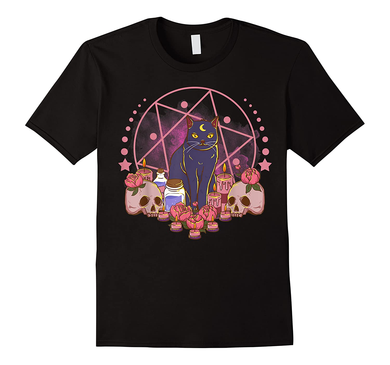 The Witches Pentacle Altar Star,  Spells  Skulls Pentagram Shirts