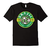 Football Is Everything - Brazil Vintage T-shirt Black