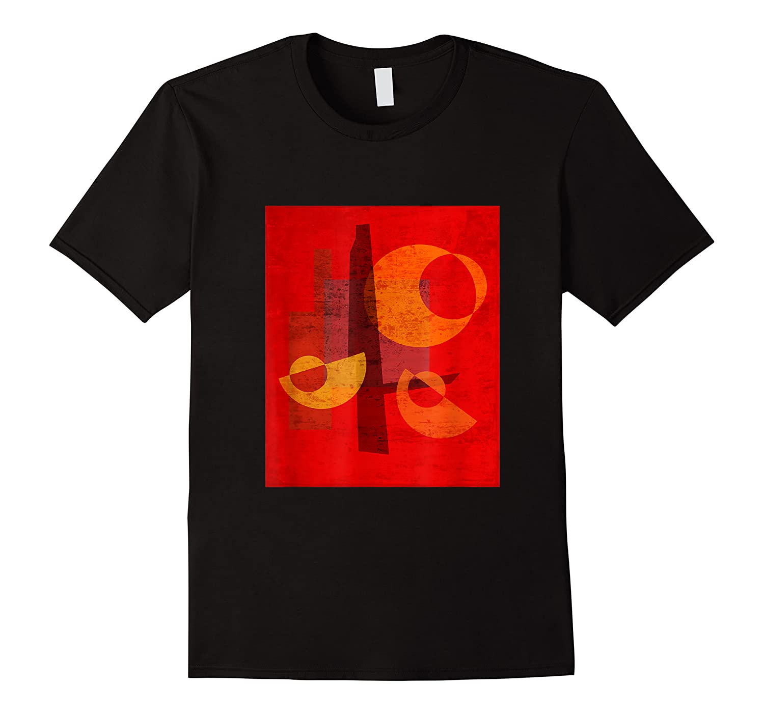 Red And Orange Abstract Shapes Shirts