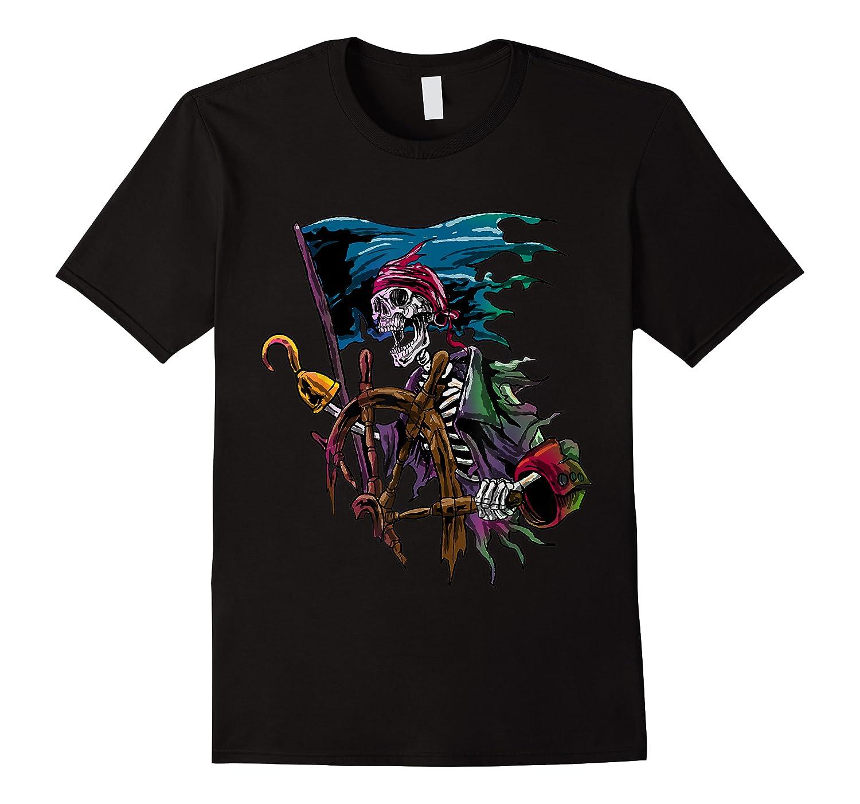 Pirate Skull Sea Thief Buccaneer Cool Sailor Man Gift Idea Shirts