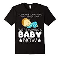 Baby Family Pregnant Mother Daughter Son Design Having Baby Shirts Black