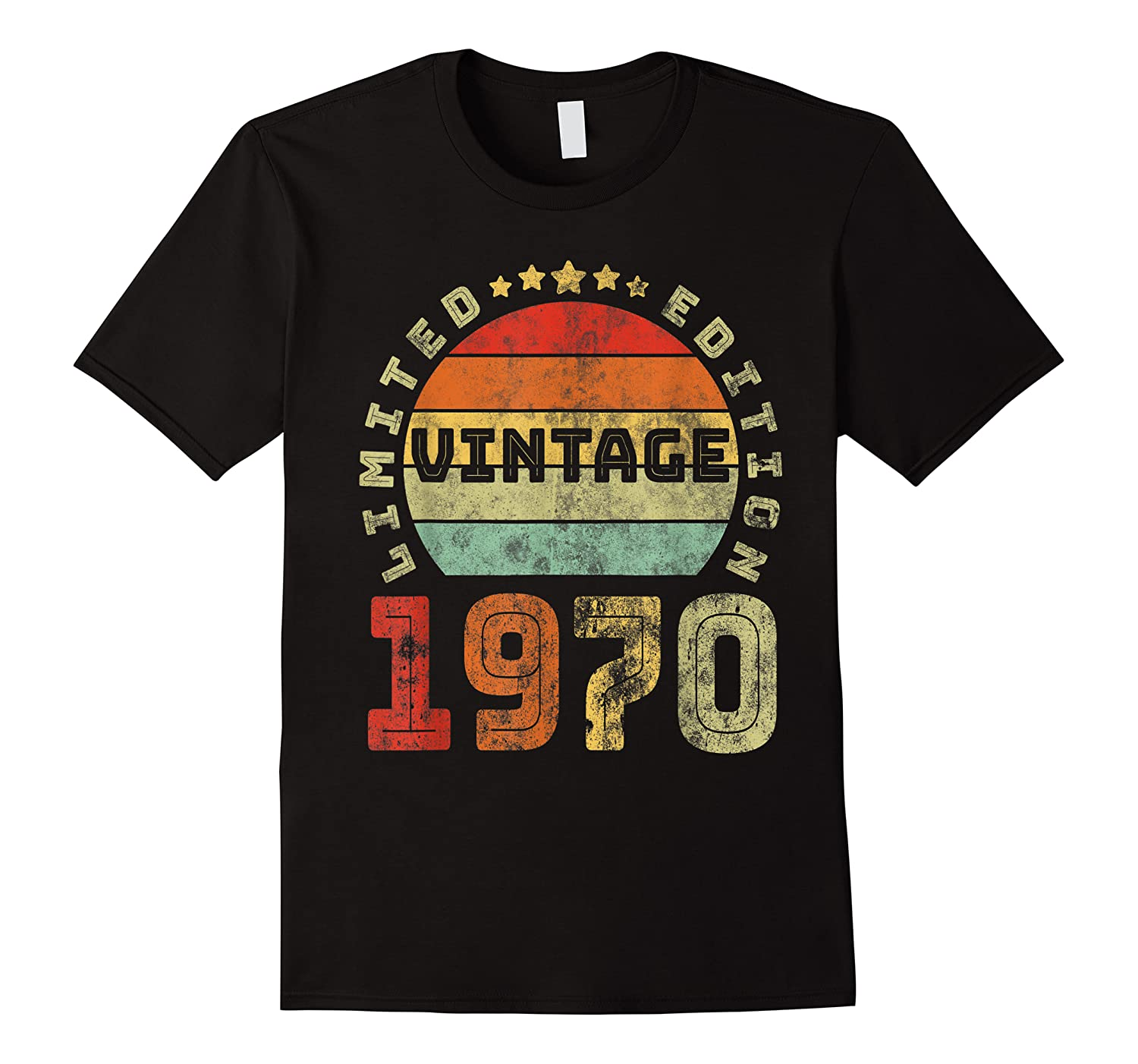 50th Birthday Gifts Retro Vintage 1970 Limited Edition T-shirt