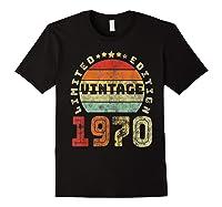 50th Birthday Gifts Retro Vintage 1970 Limited Edition T-shirt Black