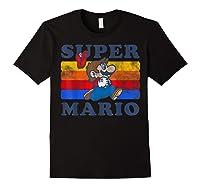 Super Mario Losing Hat Stripes Shirts Black
