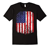 Distressed American Flag, Patriotic Shirts Black
