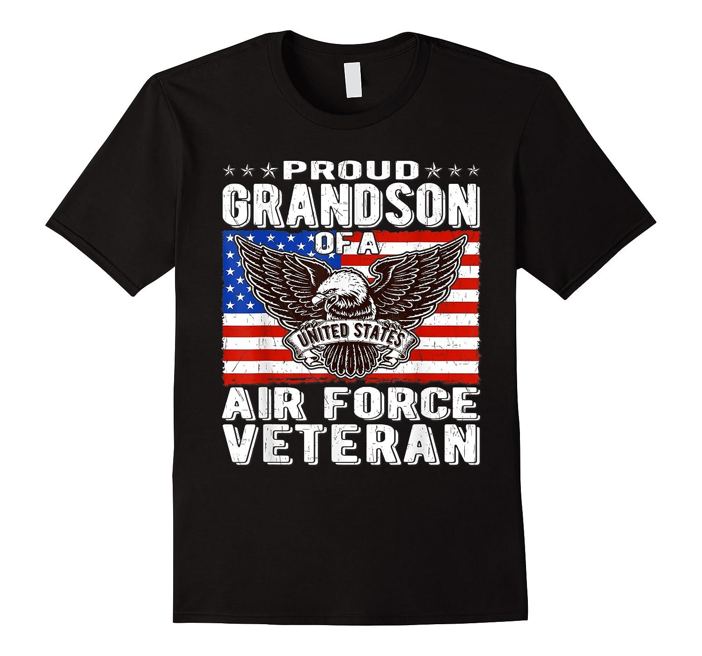 Proud Grandson Of Air Force Veteran Patriotic Military Gifts Shirts