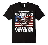 Proud Grandson Of Air Force Veteran Patriotic Military Gifts Shirts Black