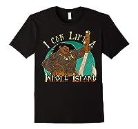 Moana Maui I Can Lift A Whole Island Graphic Shirts Black