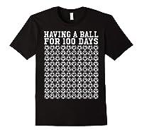 Soccer Ball 100 Days Of School Shirt Player Tea Boy Gift Black
