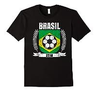 Brazilian 2018 Football Brazil Soccer Fan T-shirt Black
