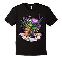 Plant Lady Shirt Gardening Gift Watercolor Flower Garden T-shirt Black