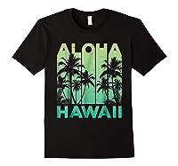 Aloha Hawaii Hawaiian Island Vintage 1980s Throwback Shirts Black