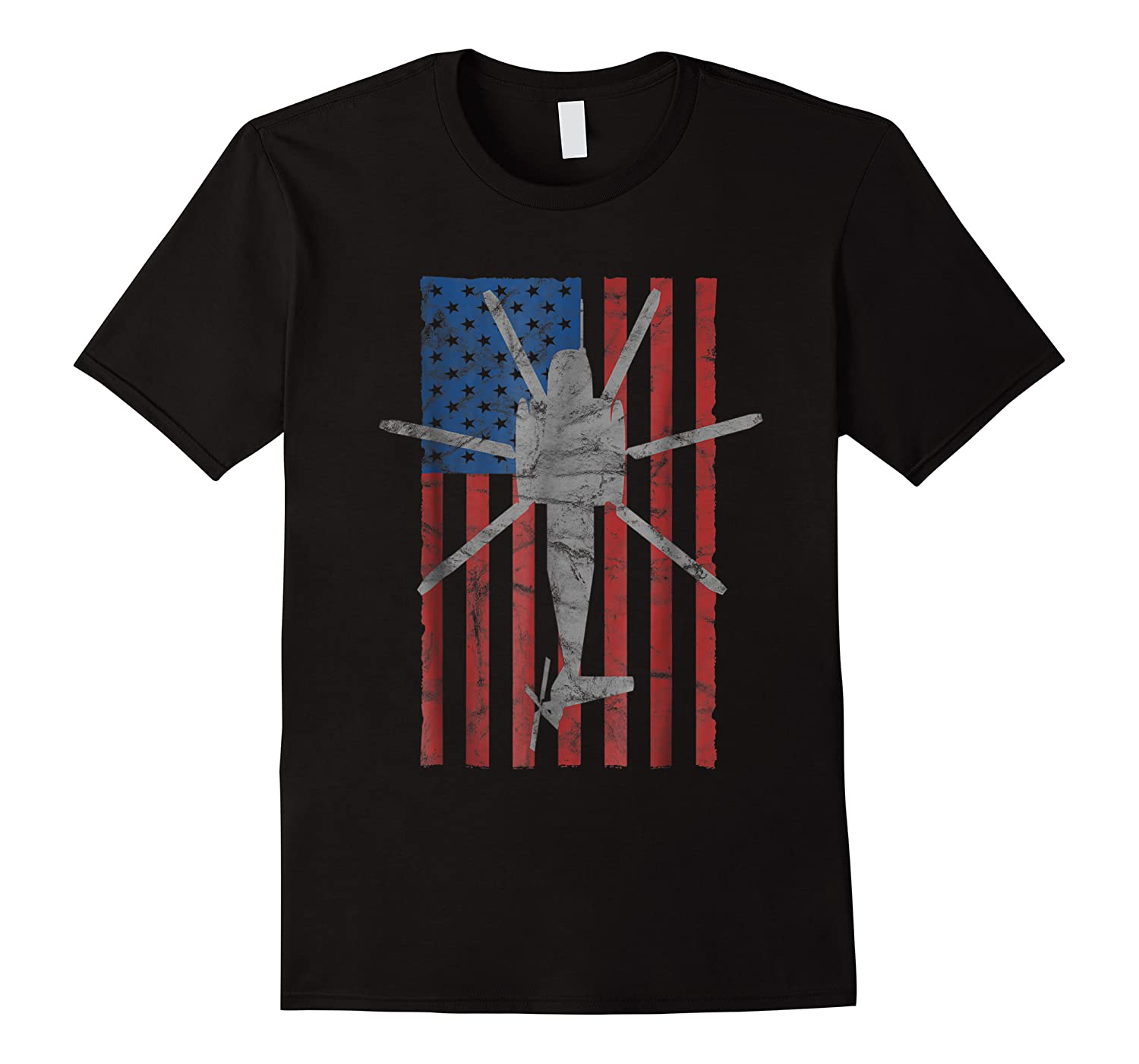 Ch 53 Sea Stallion Helicopter Color Vintage Flag Shirts