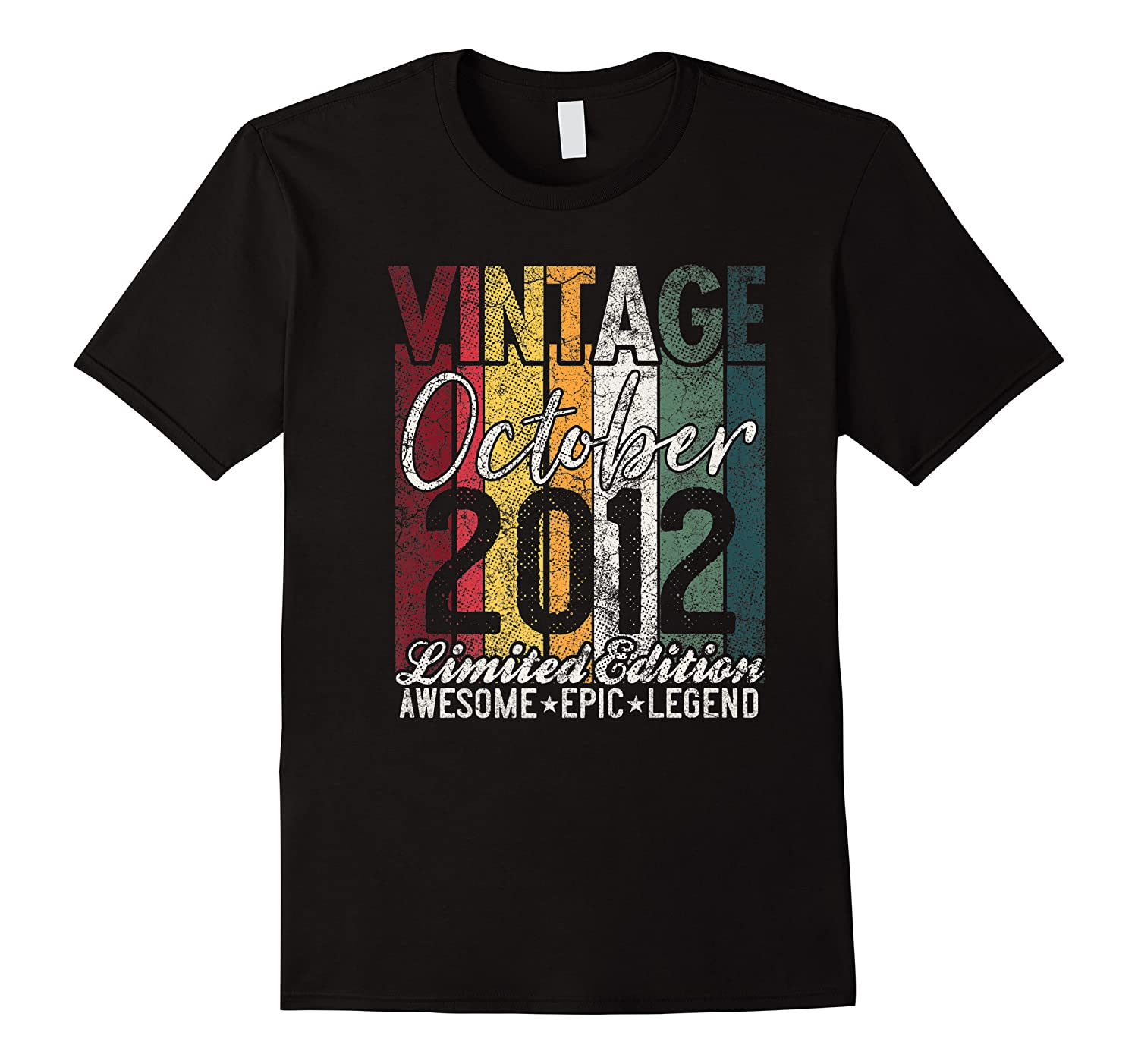 Gift For 8th Birthday October 2012 Vintage Limited Edition Premium T-shirt