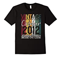 Gift For 8th Birthday October 2012 Vintage Limited Edition Premium T-shirt Black