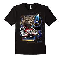 Marvel Avengers Endgame Rocket Logo Graphic T-shirt Black