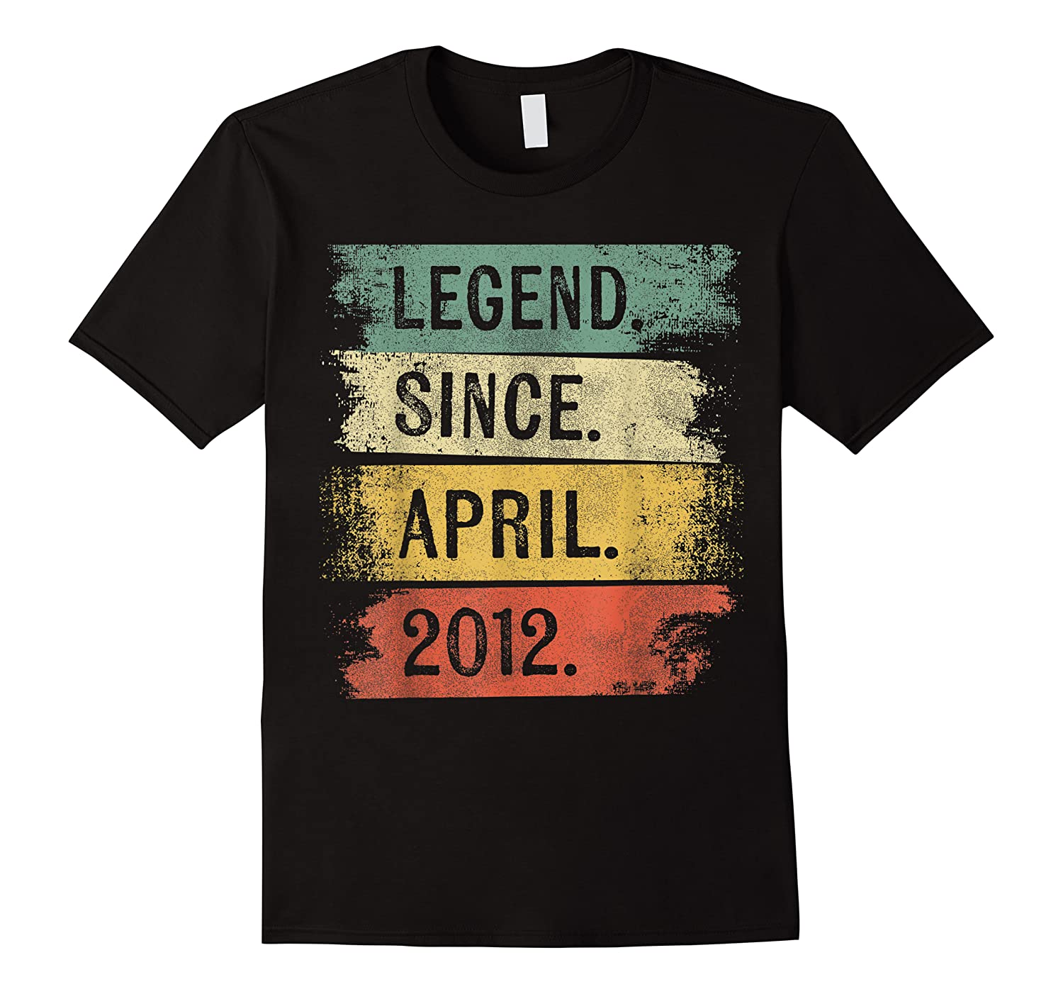 8 Year Old Gifts Legend Since April 2012 8th Birthday Shirts