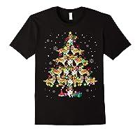 Shetland Sheepdog Christmas Tree Funny Sheltie Christmas T-shirt Black